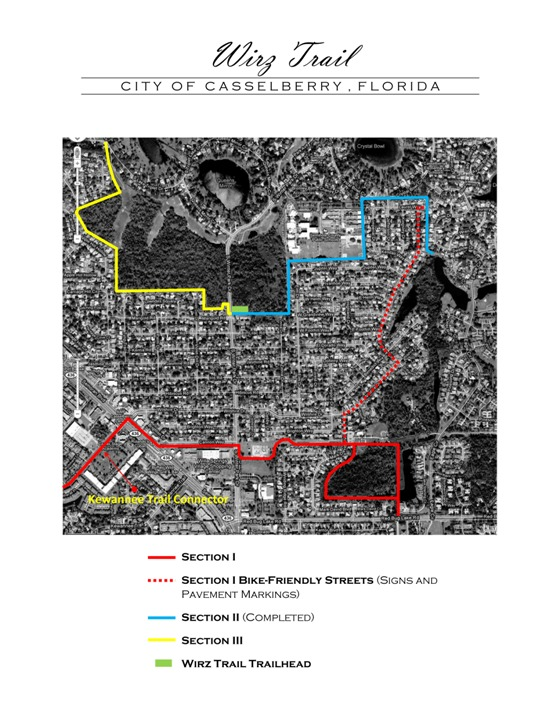Wirz Trail Map - City of Casselberry, Florida