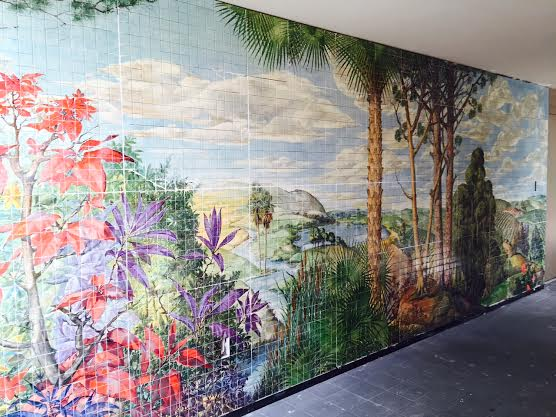 Mural of a jungle scene