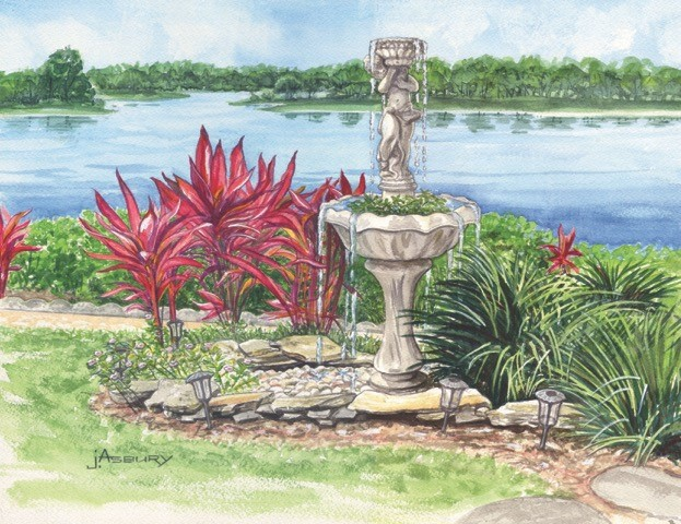 Artist Asbury Janet-The Fountain of Ruth